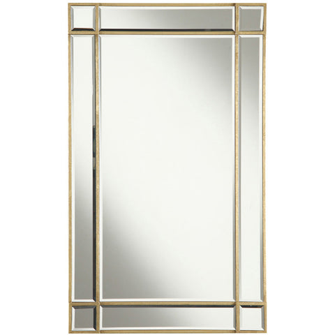 "Florentine 22""x0.75""x36"" Rectangular Wall Mirror, Gold"