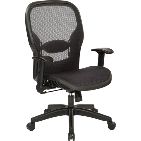 Manager's Chair with Air Grid Back/Seat & Adjustable Flip Arms, Black