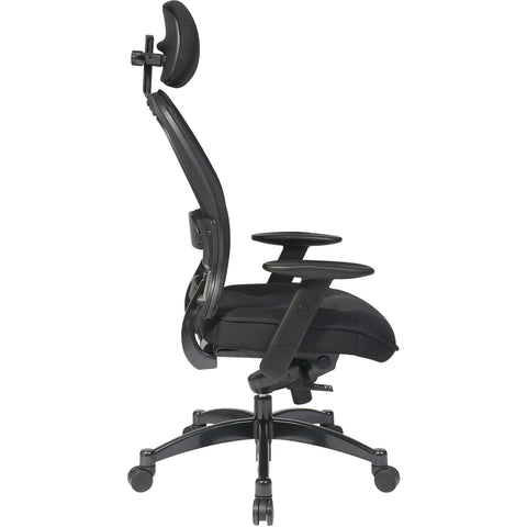 Professional Deluxe Chair with Breathable Mesh & Adjustable Arms, Black