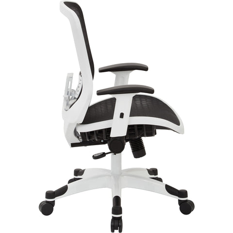CHX Dark Breathable Mesh Manager's Chair with Padded Flip Arms, Black