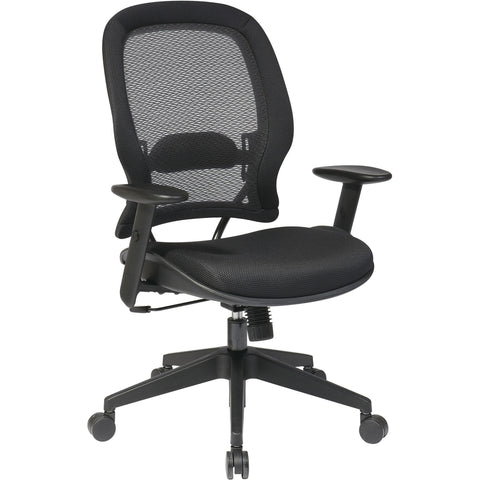 Professional Air Grid Back Manager's Chair with Mesh Seat , Black