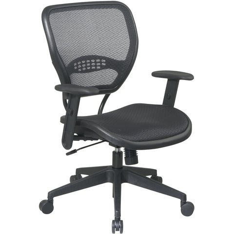 Deluxe Task Chair with Air Grid Seat/Back & Adjustable Arms, Black