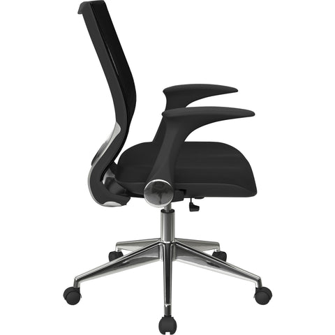 Pro-Line II ProGrid Back Manager's Chair with Mesh Seat & Flip Arms, Black