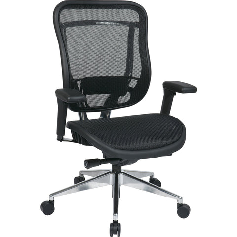 Big & Tall Executive High-Back Chair with Breathable Mesh Seat & Back, Black