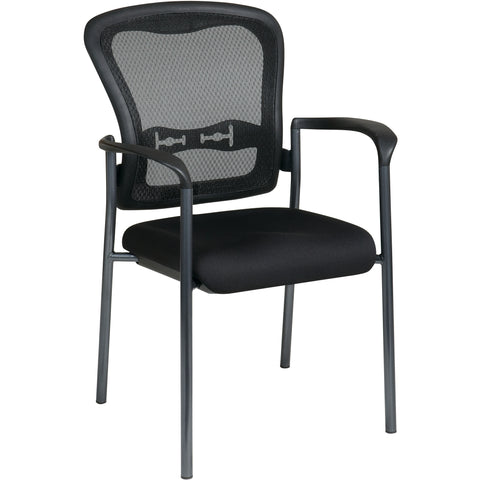 Pro-Line II ProGrid Back Stackable Visitor's Chair with FreeFlex Fabric, Coal