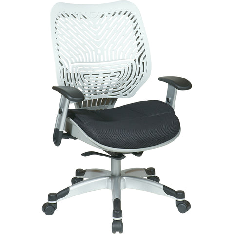 Unique Self Adjusting SpaceFlex Back & Mesh Seat Manager's Chair, Ice/Raven
