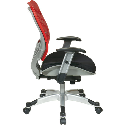 Unique Self Adjusting SpaceFlex Back & Mesh Seat Manager's Chair, Cosmo/Raven