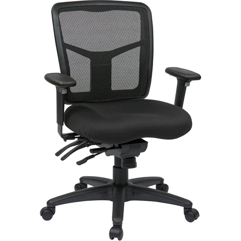 Pro-Line II ProGrid Mid-Back Manager's Chair with FreeFlex Fabric Seat, Coal