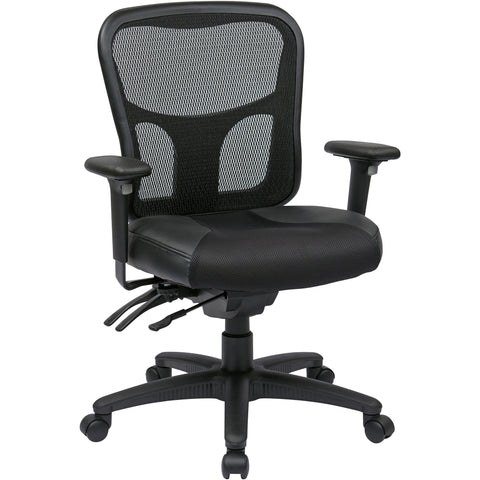 Pro-Line II ProGrid High-Back Manager's Chair, Black Bonded Leather