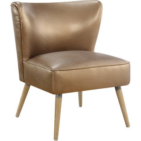 Curves Hour Glass Accent Chair with Espresso Legs, Marlow Red Fabric