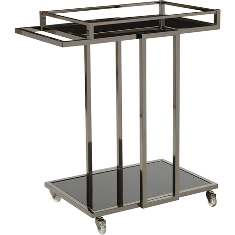 OSP Angela Serving Cart, Black Nickel