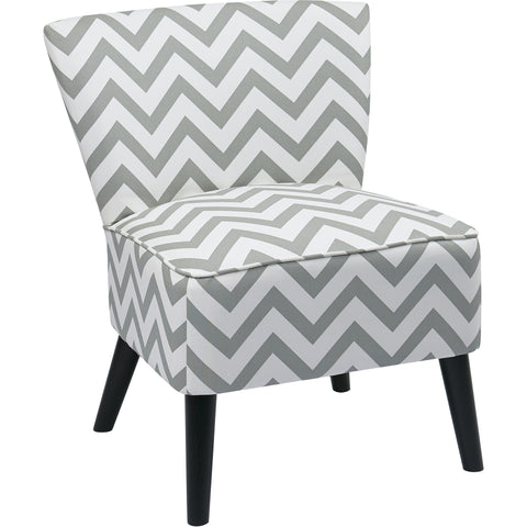 Curves Hour Glass Accent Chair with Espresso Legs, Vintage Grenadine Fabric