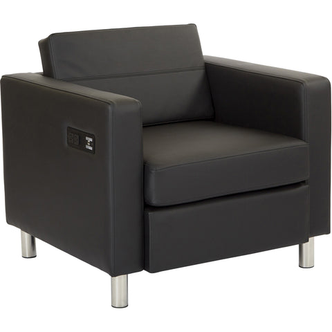 Reign Chair with Ebony Wood Finish, Klein Charcoal Fabric