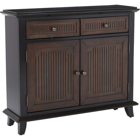 Burton Storage Cabinet, Black Wood Finish