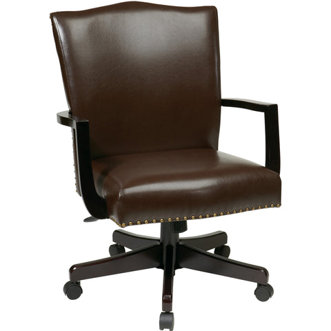 Morgan Manager's Chair with Thick Padded Seat & Back, Espresso Bonded Leather
