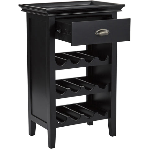 Portofino Wine Cabinet, Brushed Black Finish