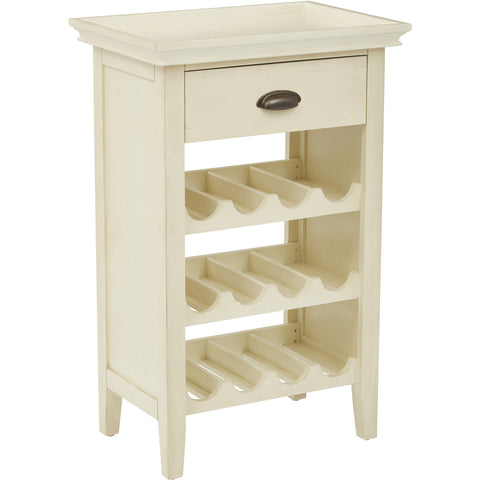 Portofino Wine Cabinet, Antique Beige Finish