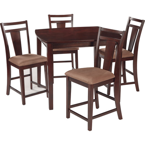 OSP Brentwood Pub Table & Chairs, Cherry Finish (5pc Set)