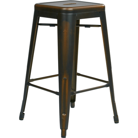 "OSP Bristow 26"" Antique Metal Barstools, Antique Copper Finish (Set of 2)"