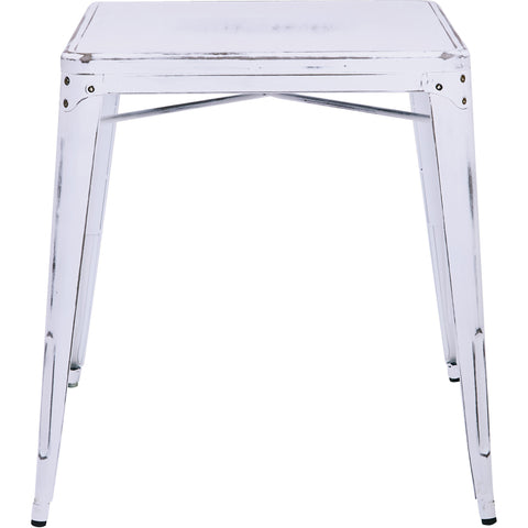 OSP Bristow Antique Metal Table, Antique White Finish
