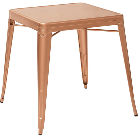 OSP Bristow Antique Metal Table, Copper Finish