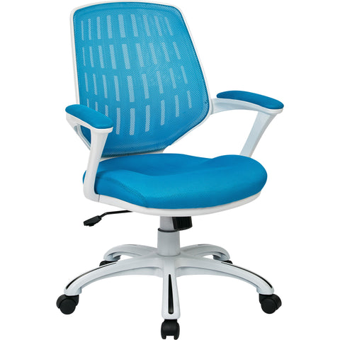 Calvin Office Chair, Blue Mesh