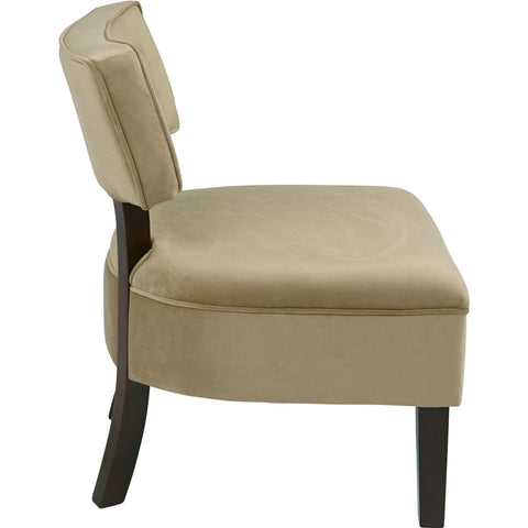 Curves Hour Glass Accent Chair with Espresso Legs, Walker Grape Fabric