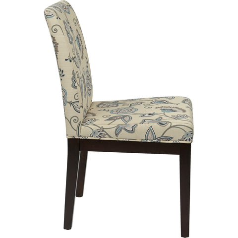 Carrington Arm Chair with Inner Boxspring, Floral Groovy Red Fabric