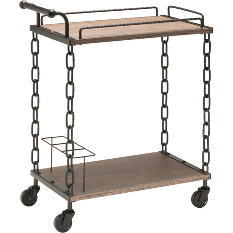 OSP Danville Serving Cart with Matte Black Chain, Calico