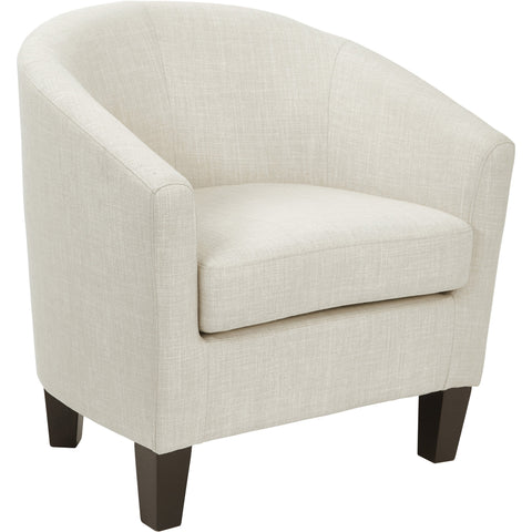 Wall Street Arm Chair, White Faux Leather