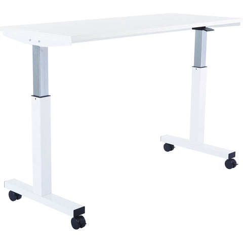 Pro-Line II 5 ft Pneumatic Height Adjustable Table with Steel Frame, White