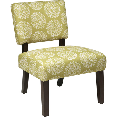 Reign Chair with Cherry Wood Finish, Klein Sea Fabric