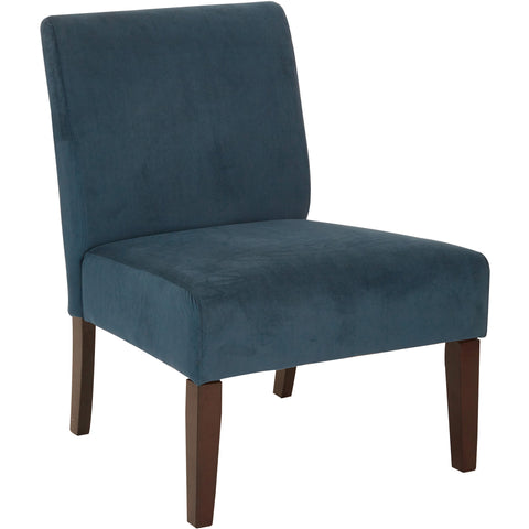 Jasmine Accent Chair with Dark Espresso Legs, Script Fabric
