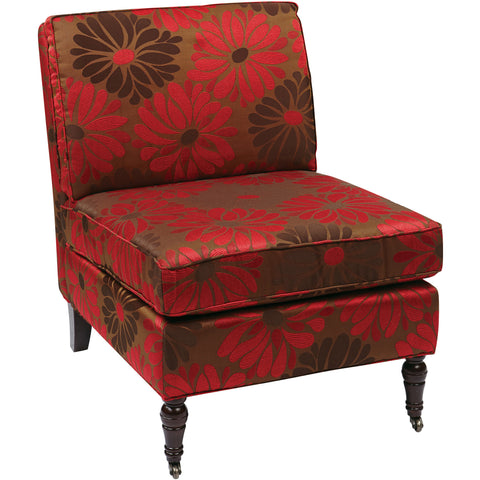 OSP Napa Guest Chair with Ladder Back & Fabric Seat, Cherry Finish