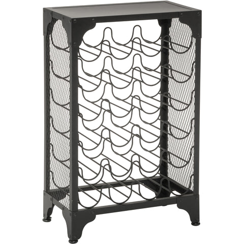 OSP Madera Wine Rack, Matte Black Finish