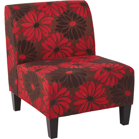 Nova Chair, Red Faux Leather