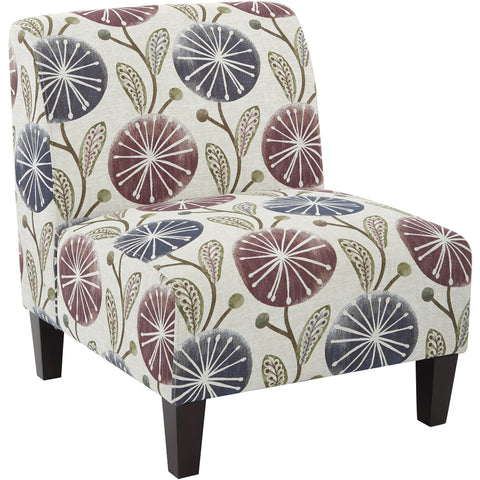 Jasmine Accent Chair, Geo Dot Teal Fabric