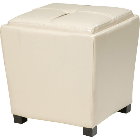 OSP Metro Storage Ottomans, Cream Bonded Leather (2pc Set)