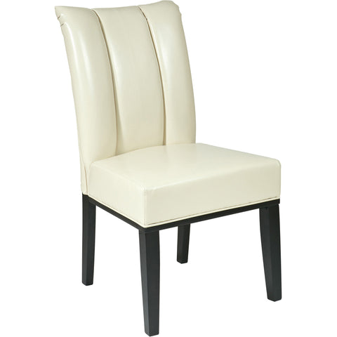 OSP Club Chair with Espresso Finish Legs, Black Bonded Leather