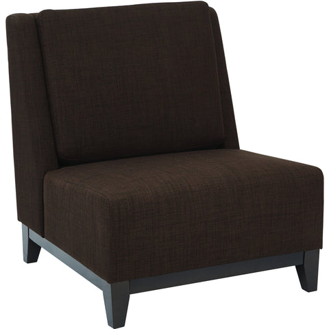 Amity Tuffed Accent Chair with Chrome Legs, Sizzle Pewter Fabric