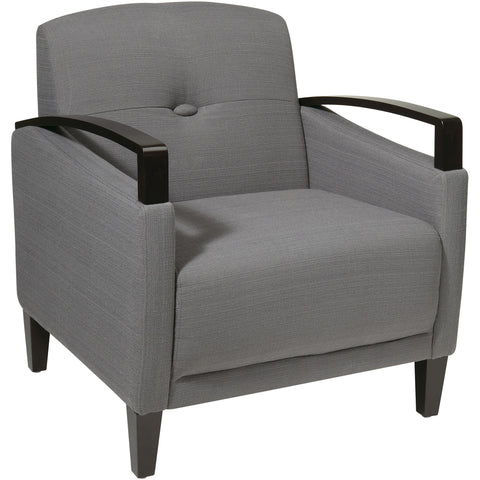 "Anthony 26"" Wide Chair with Chrome Base, Klein Azure Fabric"