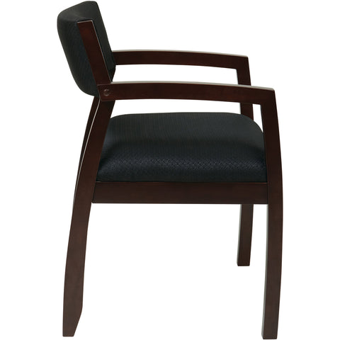 OSP Napa Guest Chair with Fabric Back & Seat, Espresso Finish