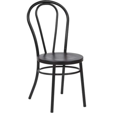 OSP Odessa Metal Dining Chairs with Backrest, Black (Set of 2)