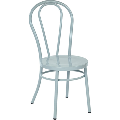 OSP Odessa Metal Dining Chairs with Backrest, Pastel Quarry (Set of 2)