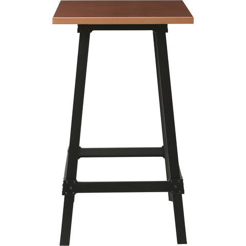 OSP Olympia Metal Bar Table with Copper Top & Matte Black Legs
