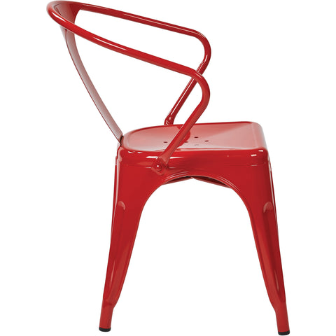 "OSP Patterson 30"" Metal Chairs, Red (Set of 2)"