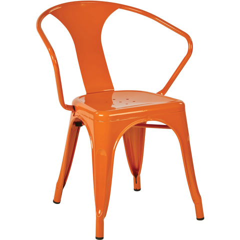 "OSP Patterson 30"" Metal Chairs, Orange (Set of 4)"