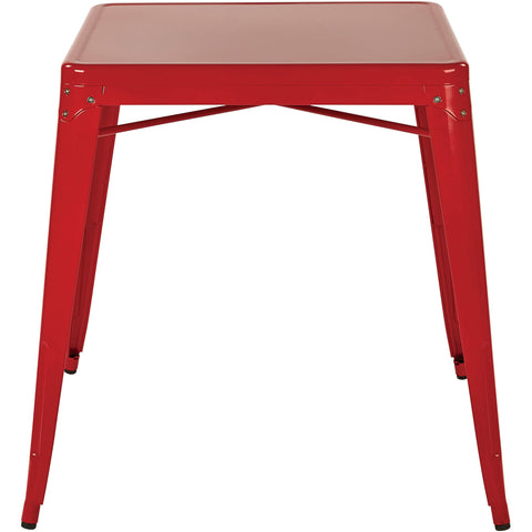 OSP Paterson Metal Table, Red