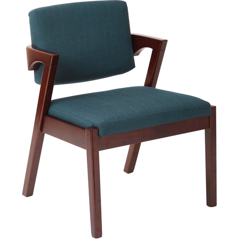 Work Smart Traditional Guest Chair with Wrap Around Back, Mahogany