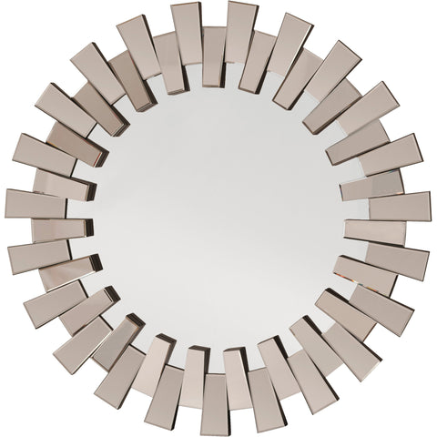 OSP Apollo Glass Round Deco Wall Mirror
